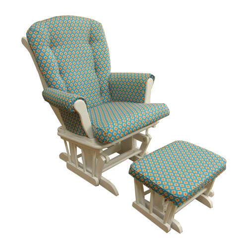 Harriet Bee Royston Floral Glider and Ottoman