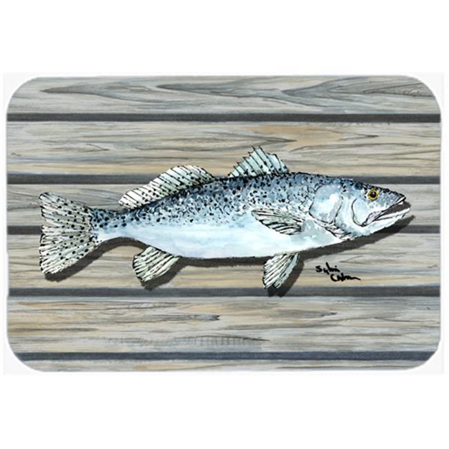 Carolines Treasures 8494-JCMT 36 x 24 in. Fish Speckled Trout Kitchen Or Bath Mat - image 1 de 1
