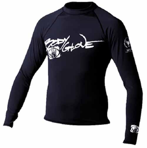 Body Glove 1211XSAA  1211XSAA; Basic Mens Long Sleeve Lycra Rash Guard Rashguard Xs Black