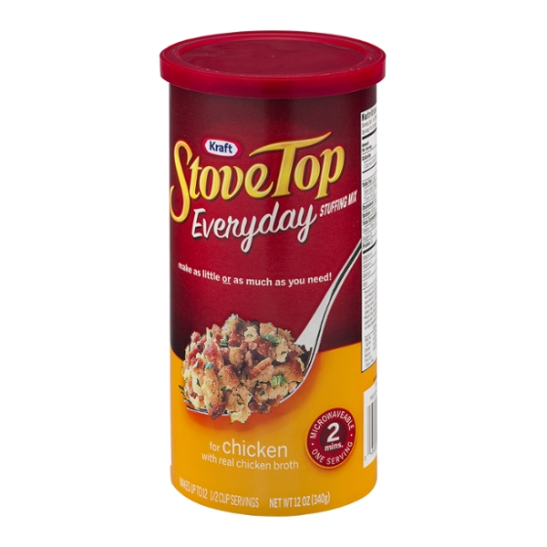Stove Top Stuffing Mix for Chicken Canister, 12 OZ (Pack of 6)