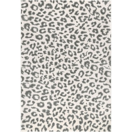 Gray And White Leopard Rug Uniquely Modern Rugs