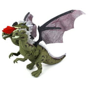 Dino Kingdom Three Headed Dragon Battery Operated Walking Toy Dinosaur Figure w  Realistic Movement, Lights and Sounds... by Velocity Toys