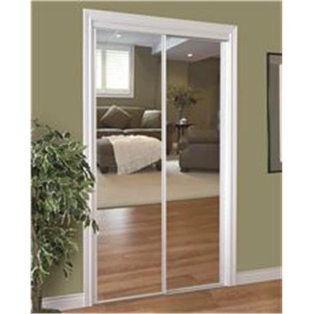 230 Series Framed Mirror Bypass Door, 48 x 80 in. - White ()