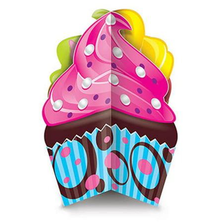 Beistle 54670 3-D Cupcake Centerpiece, Pack Of 12](Cupcake Centerpieces)
