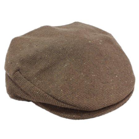 a3c2475176e Brown Flat Cap Irish Tweed Donegal Town Hanna Hats Ireland - Walmart.com