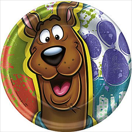 Paint Splatter Party Supplies (Here Comes Scooby-Doo! 'Paint Splatter' Small Paper Plates)