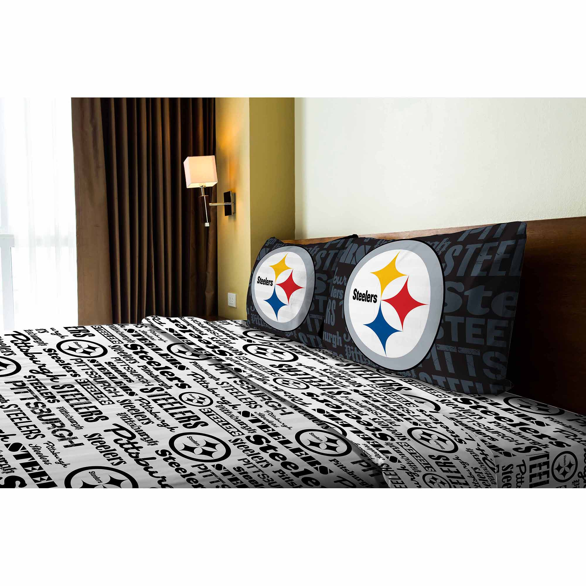 Pittsburgh Steelers Pittsburg Steelers Twin Sheet Set   Walmart.com