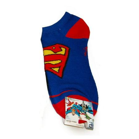 Superman Logo Blue Ankle Socks (Pair) DC Comics Man of Steel Clark Kent - Super Man Socks