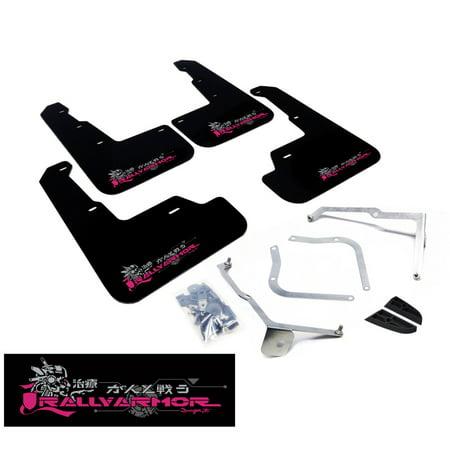 Rally Armor UR Black Mud Flap w/ Pink BCA Logo for 11-14 Subaru WRX (Hatch Only)