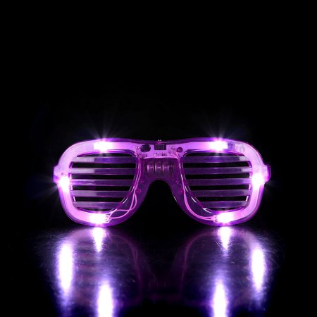 LED Slotted Shades - Purple, These Kanye West style shutter slotted shades are one of our coolest and most popular items! These eye glasses feature 6 bright white.., By Fun (Kanye West Style Com)