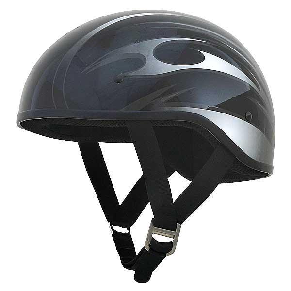 AFX FX-200 Slick Beanie Helmet Graphic Black/Silver