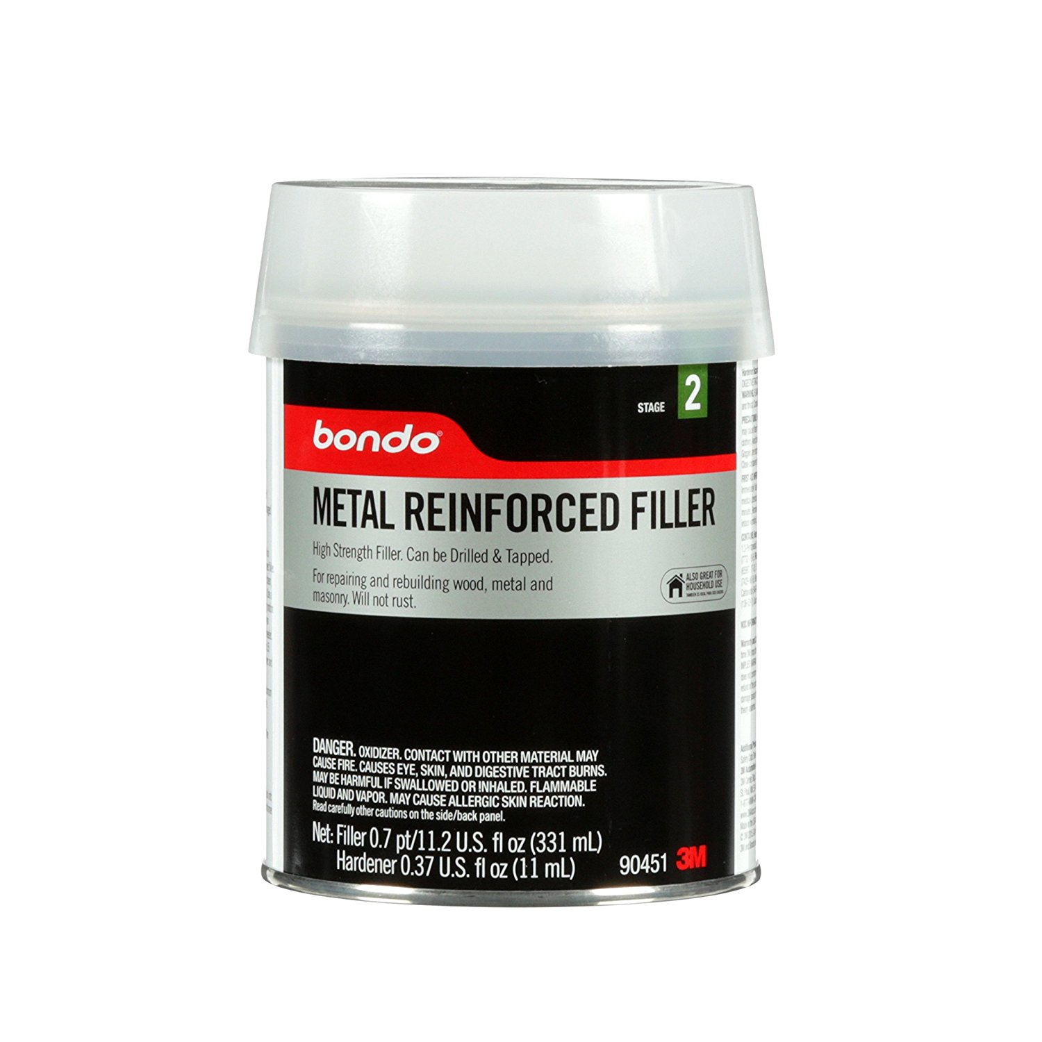 Bondo 90451 Metal Reinforced Filler, 0.7 pint, ENTERPRISE...