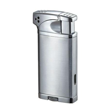 Visol  Coppia All-in-One Cigar, Cigarette, and Pipe Lighter - Chrome - Ships (Gun Cigarette Lighter)