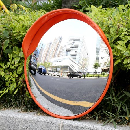 60cm Wide Angle Driveway Road Safety Convex Traffic Mirror Includes Mounting Bracket & Screw, Round Traffic Mirror,Traffic Mirror