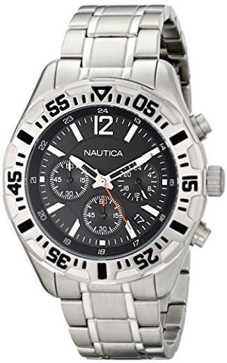 Men's Nautica NST 402 Chronograph Steel Watch N19628G by Nautica