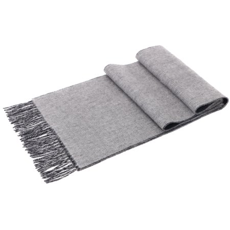 Cashmere Scarf For Men W  Gift Box Grey   Heather Grey Reversible