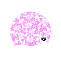 Arena Hearts Swim Cap in Light Pink and Dark Pink, One Size Fits All