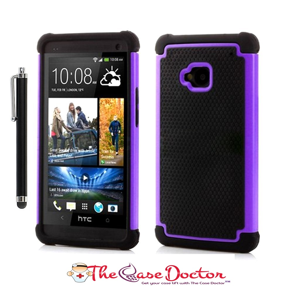 TCD HTC One M7 Executive Armor Defender Case Screen Protector & Stylus Pen