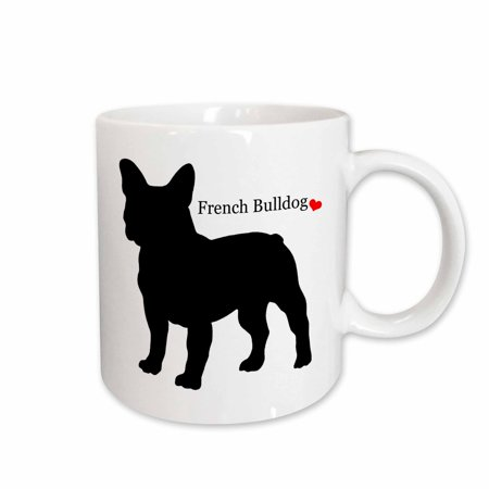 3dRose French Bulldog,, Ceramic Mug, 11-ounce
