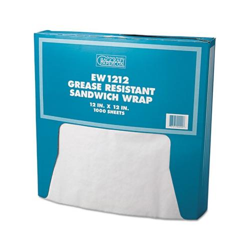 Bagcraft Papercon Grease-resistant Paper Wrap/liner, 12 X 12, White, 1000/pac...