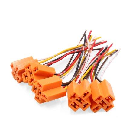 5pc Plastique Orange 5-Extension Faisceau Fil connecteur Douille pour Voiture - image 2 de 2
