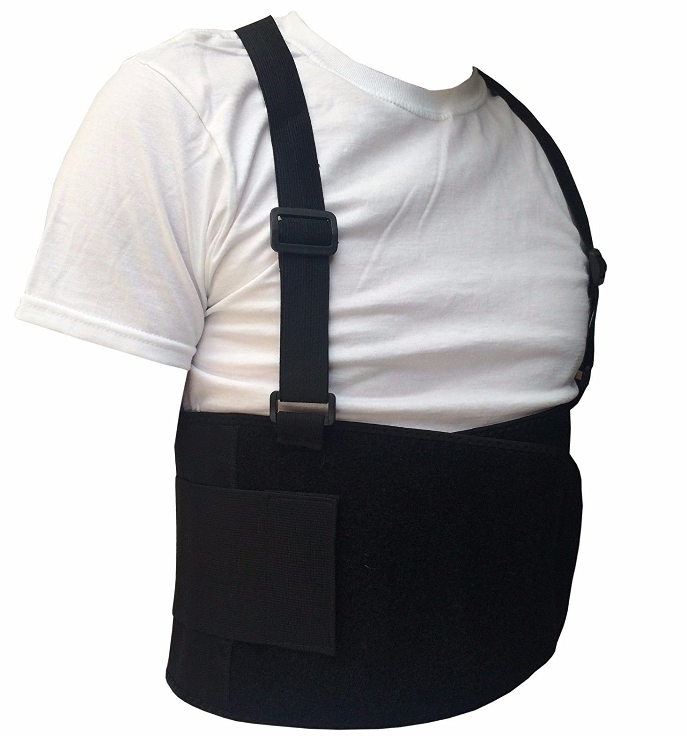 Black Belt Back Support Waist Brace Lift Heavy Weight Comfort (Large / X-Large)