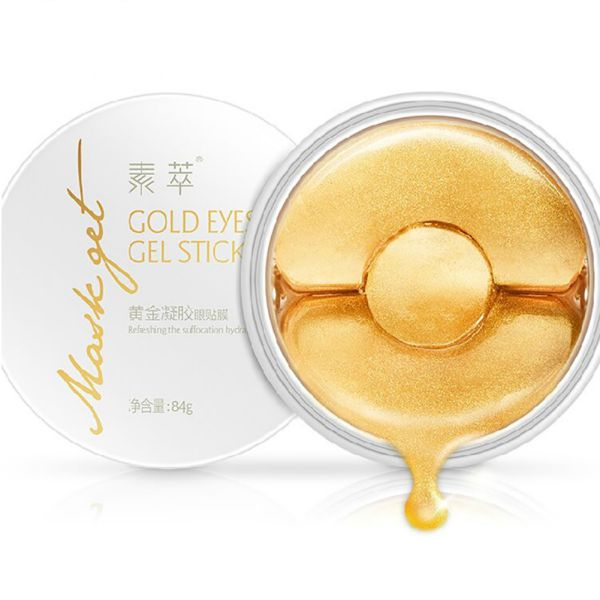 Funcee New Gold Aquagel Collagen Eye Patches for Dark Circles Face Care Eye Mask
