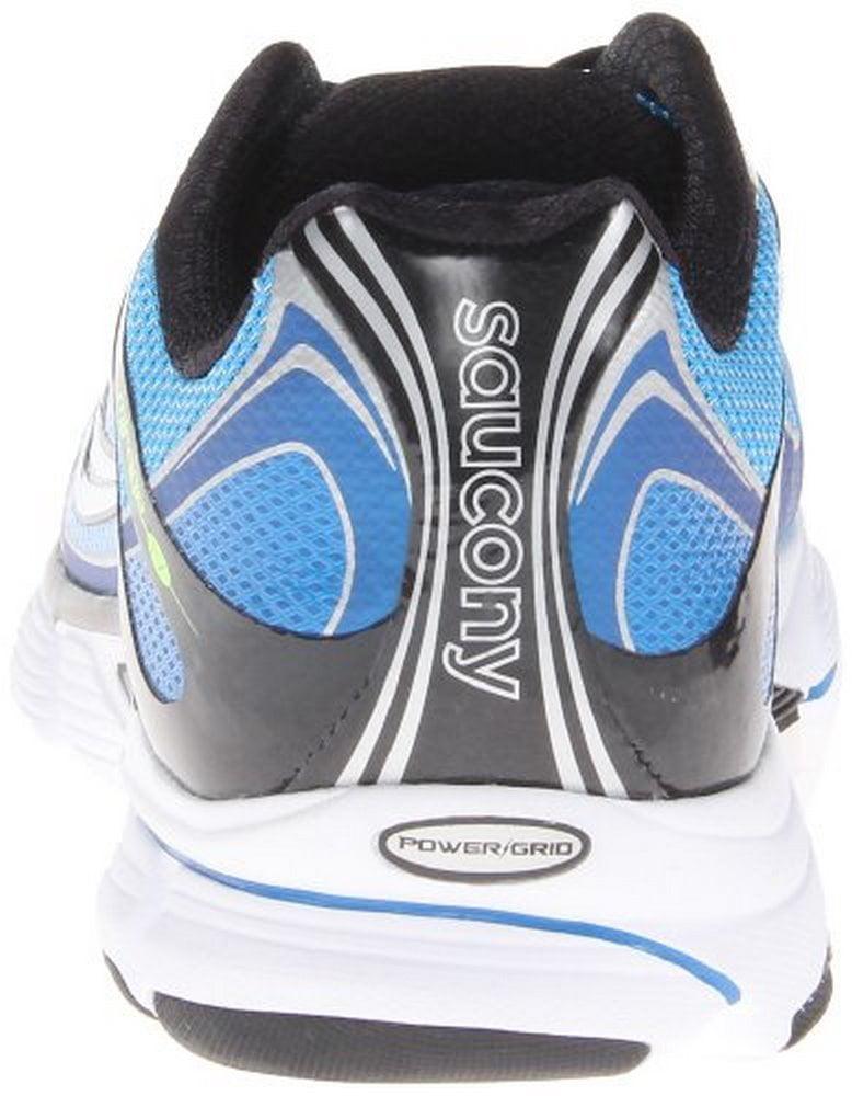 Saucony Men's Mirage 4 Running Shoe,Blue Black Citron,8 M US by