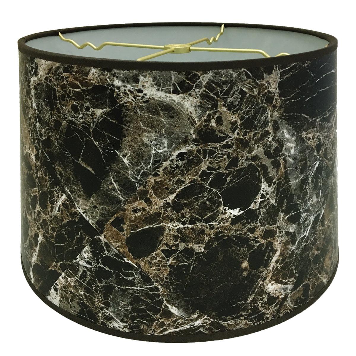 Royal Designs Dark Brown Marble Texture Hardback Lamp Shade, 13 x 14 x 9.5