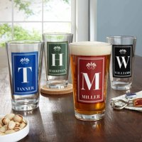 Personalized Family Name Pub Glass