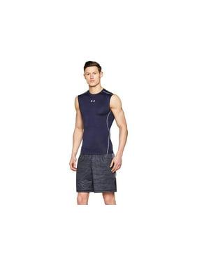 Under Armour 1257469 Men's Navy UA HeatGear Sleeveless Compression Shirt Medium