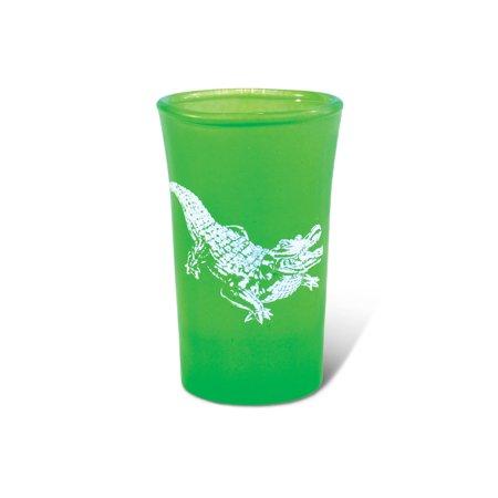 Green Neon Tall Shot Glass Alligator