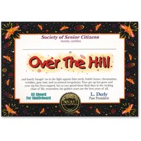 Over The Hill Certificate (Pack of 6)