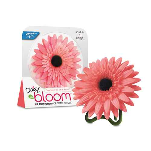 Bright Air Daisy Air Freshener, Sparkling Bloom and Peach, Coral Pink, 3.8oz BRI 900119