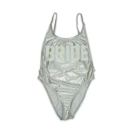 393d6266019cb ENLA Swimwear - Women s Silver Bride High Cut Vintage One Piece Swimsuit -  Made in USA - Walmart.com