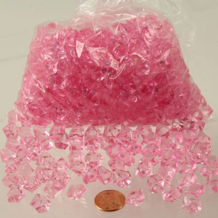 Acrylic Ice Crystals - 2500 piece lot - PINK (Table Scatter, Vase Fillers, Decoration) (Vase Fillers For Halloween)