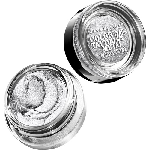 Maybelline Eyestudio ColorTattoo Metal 24HR Cream Gel Eye Shadow, Silver Strike