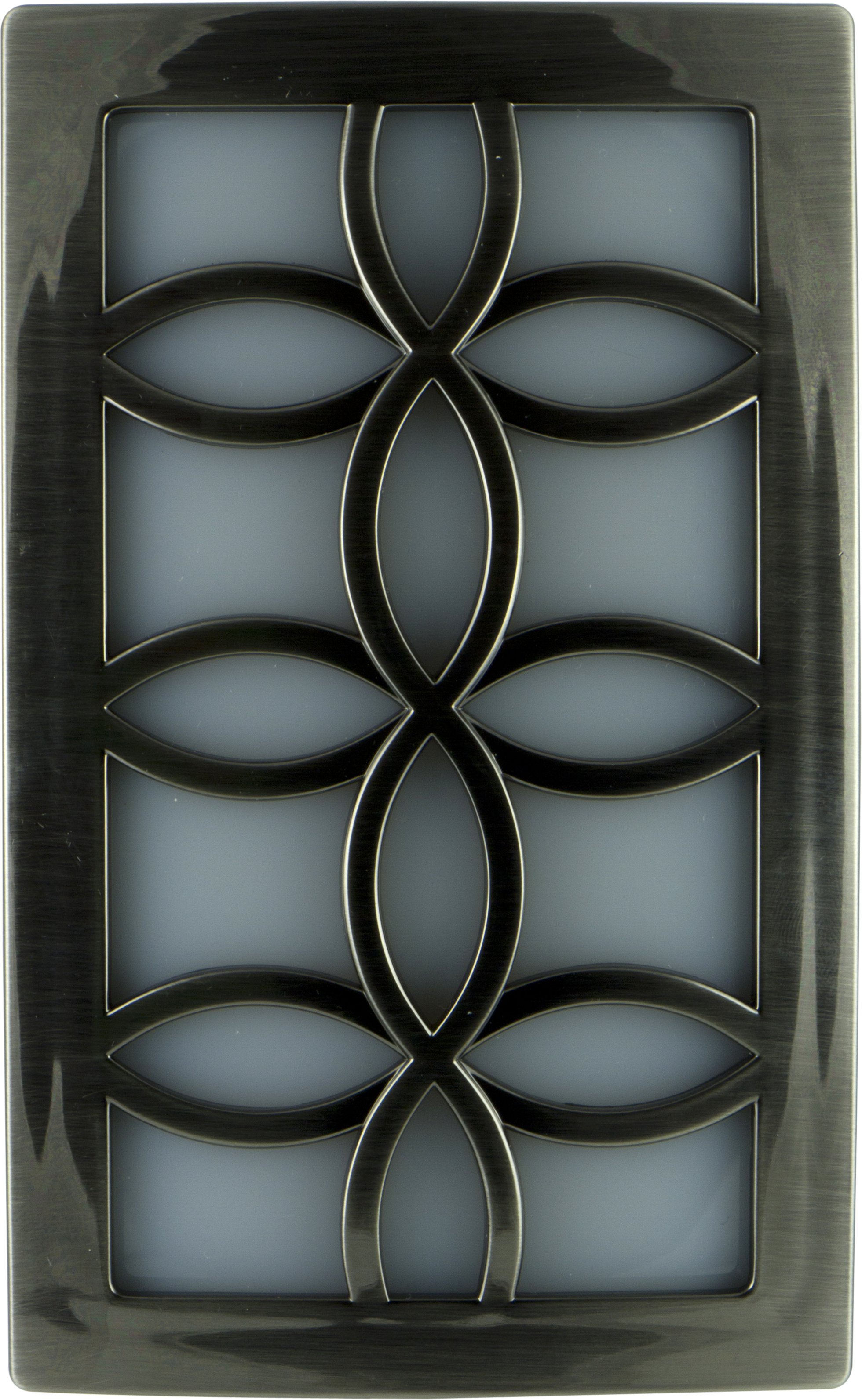 GE CoverLite LED Plug-In Night Light, Leaves Design, Brushed Nickel, 11257 by Jasco Products Company, LLC
