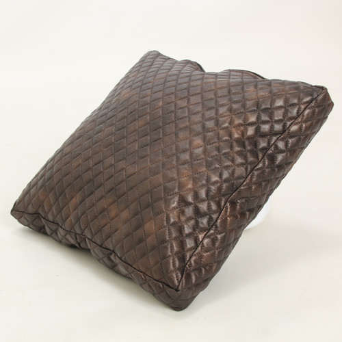 Wow Works LLC Faux Leather Throw Pillow