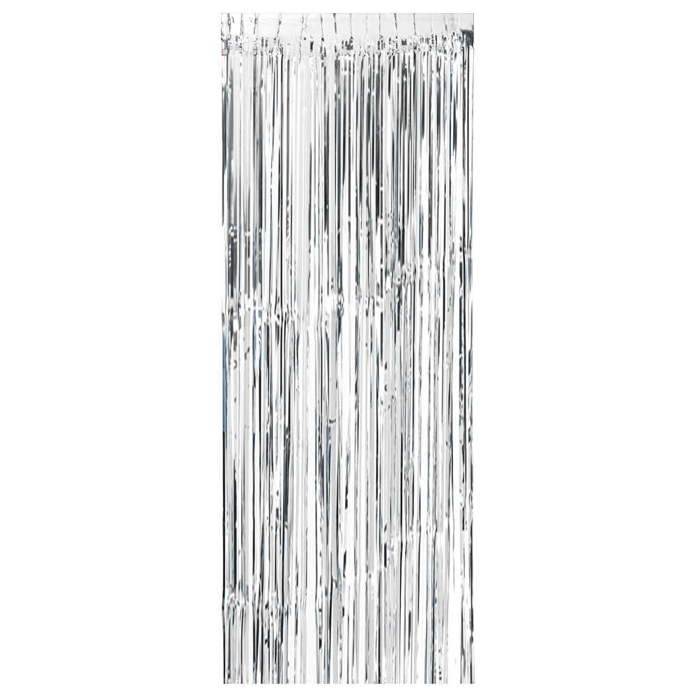 100 300cm Metallic Foil Fringe Curtain Tinsel Shimmer