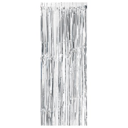 100 * 300cm Metallic Foil Fringe Curtain Tinsel Shimmer Window Door Curtain Wall Backdrop Panel Decoration for Wedding Christmas Party--Silver](Tinsel Backdrop)