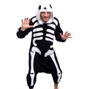 Unisex Adult Plush Animal Cosplay Costume Pajamas (Skeleton)