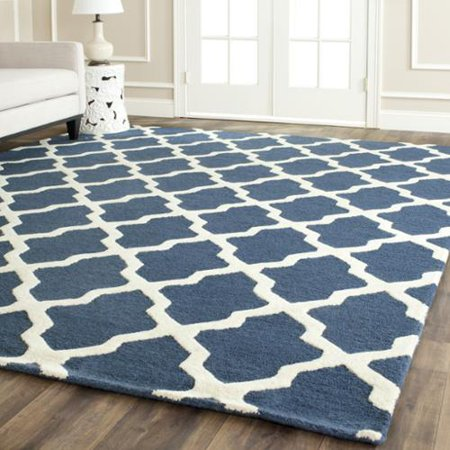 Safavieh Handmade Moroccan Cambridge Navy Blue Ivory Wool Rug 10 X