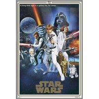 """Star Wars: Episode IV - A New Hope - Movie Poster / Print (40th Anniversary Gold Border Edition - Regular Style C) (Size: 24"""" x 36"""")"""
