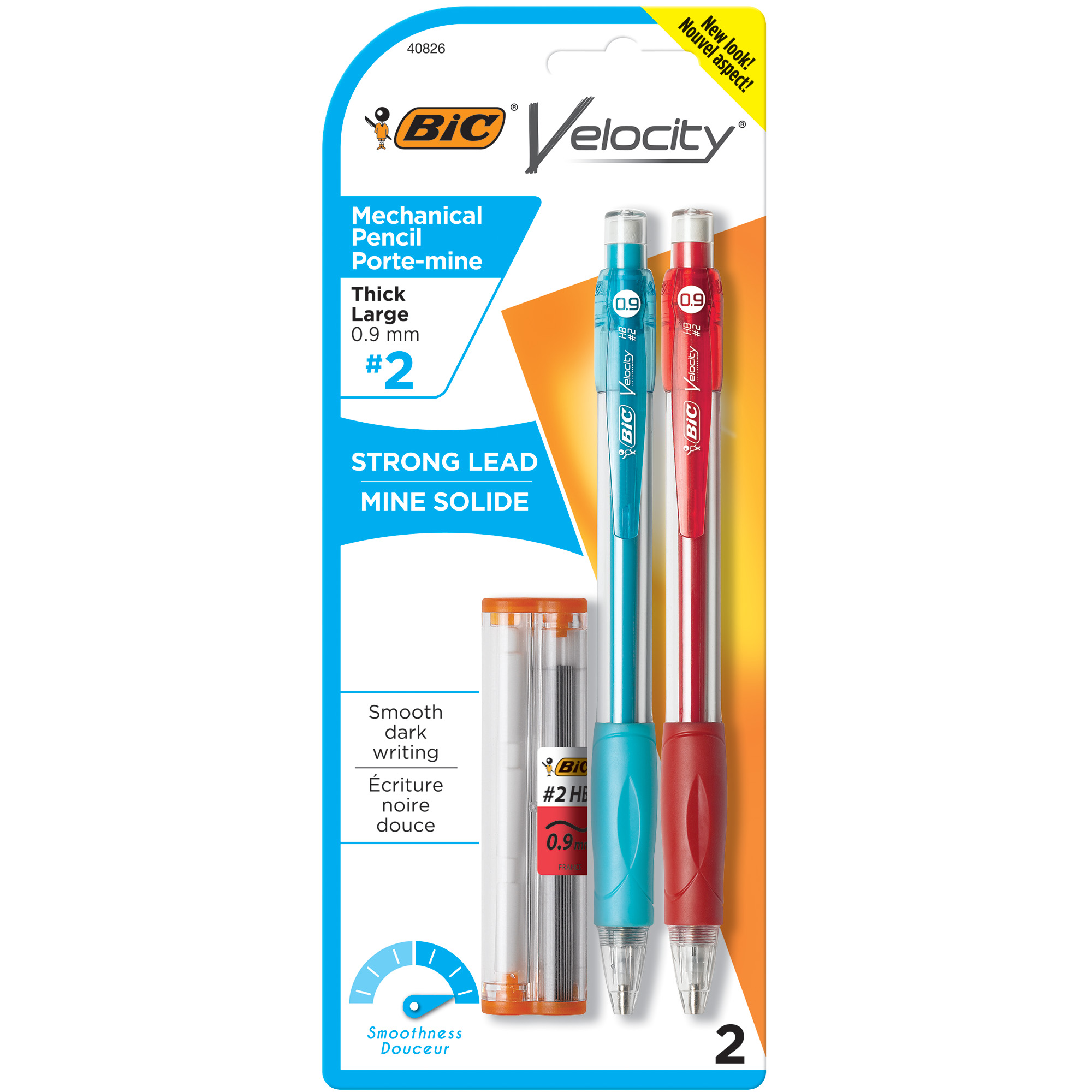 BIC Velocity Original Mechanical Pencil, Thick Point (0.9 mm), 2 Count