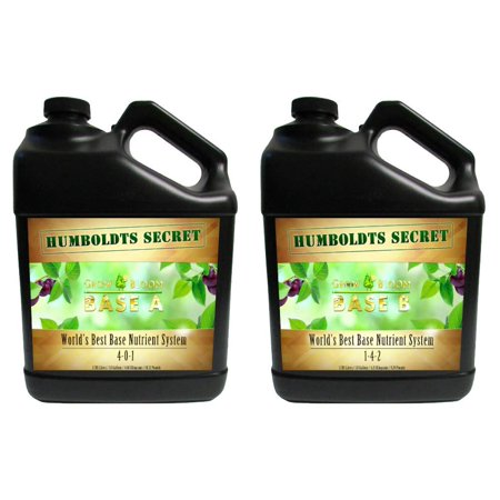 Master Nutrient System - World's Best Base Nutrient System: Humboldts Secret Base A & B Bundle - Liquid Nutrient/Fertilizer For The Vegetative & Flowering Stages of Plants (2 Gallons)