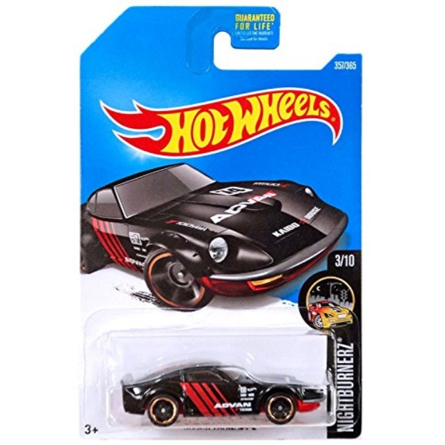 Hot Wheels 2017 #357//365 NISSAN FAIRLADY Z black Nightburnerz