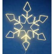Christmas at Winterland LED-SFSTAR60-WW 60 Inch Warm White LED Rope Light Snowfl