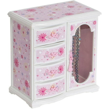 Dorothy Girl's Glittery Upright Musical Ballerina Jewelry - Jewelry Boxes For Kids
