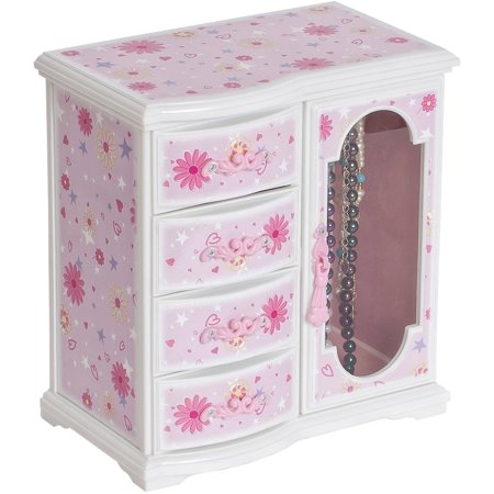 Dorothy Girl's Glittery Upright Musical Ballerina Jewelry Box Ballerina Treasure Music Box